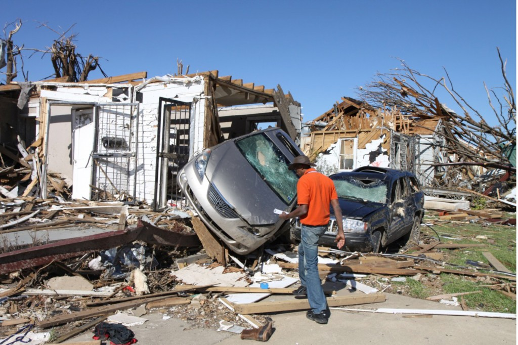 Dr. Prevatt On-Site Assessing Tornado Damage - May 4, 2011
