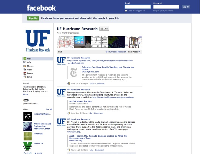 UF Hurricane Research Page
