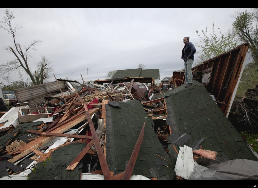 Tornado Damage in Thurman, IA (AP Photo/Nati Harnik)