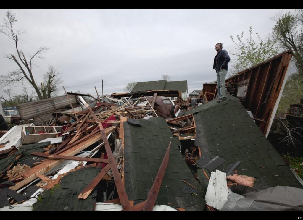 Tornado Damage in Thurman, IA (AP Photo/Nati Harnik)