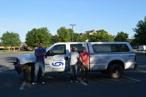 UF Team Deploying to Moore, OK (L-R: Dr. Duzgun Agdas, Jeandona Doreste, Austin Thompson)